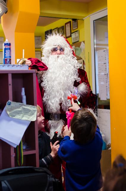 Vaikų pakviestas pasirodė Kalėdų senelis