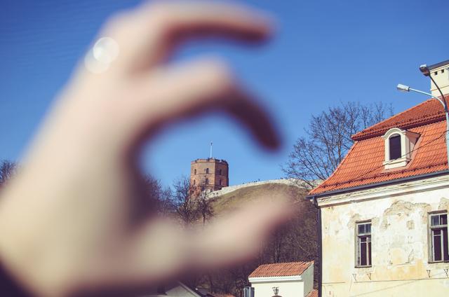 Prie Bernardinų sodo puikiai matosi Gedimino pilis