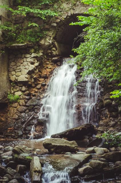Viena gražiausių Verkės upelio užtvankų