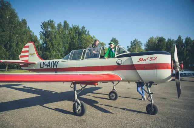 Alytaus aeroklube vyrai tapo pilotais